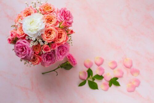プリザーブドフラワーの花
